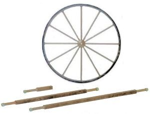 Steel Wagon Wheels, Axles